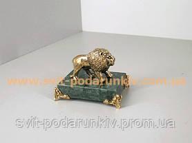 Оригинальный подарок бронзовая статуэтка Лев, фото 2