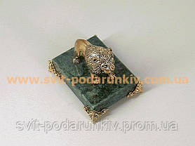 Оригинальный подарок бронзовая статуэтка Лев, фото 3