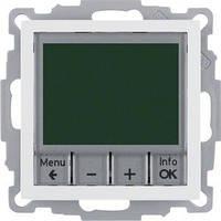 Программируемый терморегулятор Berker S.1/B.3/B.7, 10А/250В, полярная белизна (20448989)