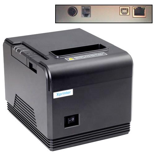 Термопринтер POS чековый принтер USB+LAN с автообрезкой XP-Q200 80мм, фото 1