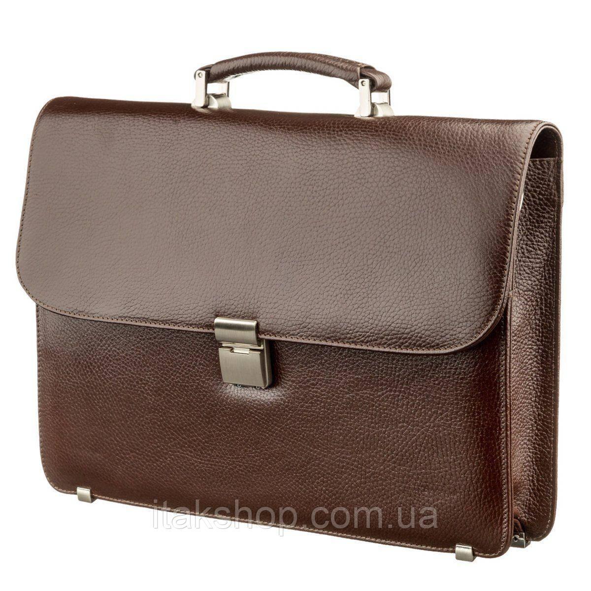 Портфель мужской KARYA 17272 кожаный Коричневый, Коричневый