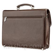Портфель мужской KARYA 17272 кожаный Коричневый, Коричневый, фото 2