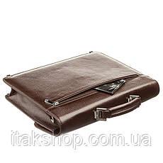 Портфель мужской KARYA 17272 кожаный Коричневый, Коричневый, фото 3