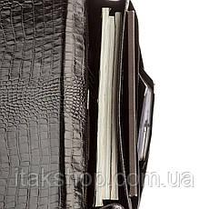 Портфель мужской KARYA 17273 кожаный Черный под крокодила, Черный, фото 2