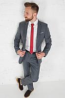 Классический мужской серый костюм