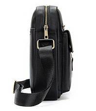 Сумка cтильная мужская Vintage 14649 Черная, Черный, фото 2
