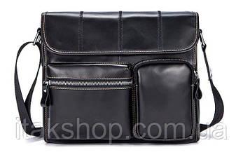 Сумка на пояс Vintage 14651 Черная, Черный, фото 2