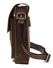 Cумка мужская вертикальная Vintage 14660 Коричневая, Коричневый, фото 2
