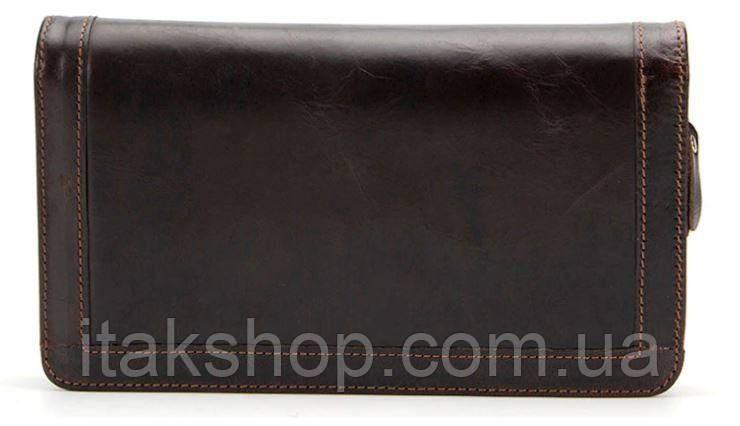 Клатч мужской с ремнем Vintage 14679 Коричневый, Коричневый