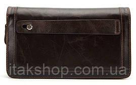 Клатч мужской с ремнем Vintage 14679 Коричневый, Коричневый, фото 2