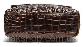 Cумка мужская с тиснением под крокодила Vintage 14698 Коричневая, Коричневый, фото 3