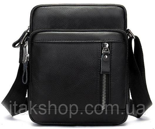 Сумка мужская Vintage 14701 Черная, Черный, фото 2