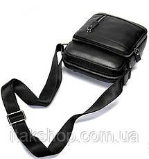 Сумка мужская Vintage 14701 Черная, Черный, фото 3