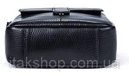 Кожаная мужская сумка флотар Vintage (Черная), фото 2