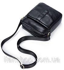 Кожаная мужская сумка флотар Vintage (Черная), фото 3
