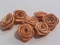 Розочки атласные светло-коричневые