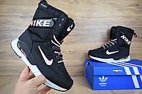 Nike Zoom сапоги черные кроссовки найк дутики зимние женские