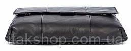 Сумка мужская гладкая Vintage 14732 Черная, Черный, фото 3