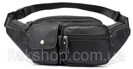 Поясная сумка флотар Vintage 14740 Черная, Черный, фото 2