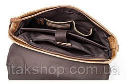 Сумка деловая мужская под ноутбук Vintage 14753 Светло-коричневая, Коричневый, фото 2