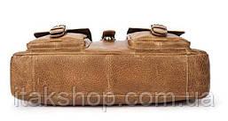 Сумка деловая мужская под ноутбук Vintage 14753 Светло-коричневая, Коричневый, фото 3