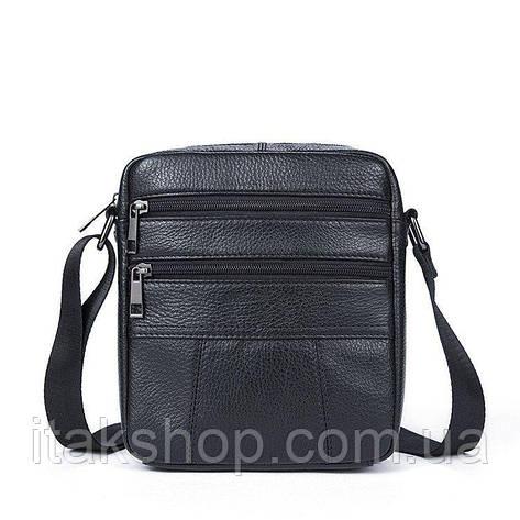 Сумка мужская флотар Vintage 14758 Черная, Черный, фото 2