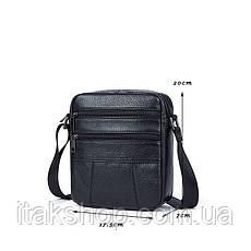 Сумка мужская флотар Vintage 14758 Черная, Черный, фото 3