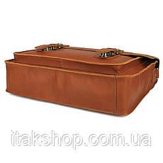 Кожаный портфель матовый Vintage 14937 Рыжий, Рыжий, фото 2