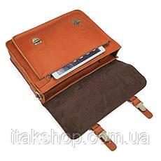 Кожаный портфель матовый Vintage 14937 Рыжий, Рыжий, фото 3