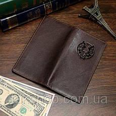 Купюрник мужской Vintage 14173 кожаный Коричневый, Коричневый, фото 3