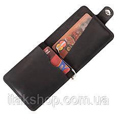 Зажим для купюр SHVIGEL 13787 из винтажной кожи Черный, Черный, фото 3