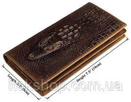 Купюрник мужской Vintage 14381 кожаный Коричневый, Коричневый, фото 3