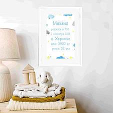 """Постер """"Облака"""" персонализированный, фото 3"""