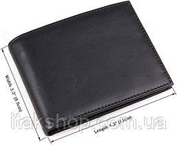 Кошелек мужской Vintage 14449 Черный, Черный, фото 3