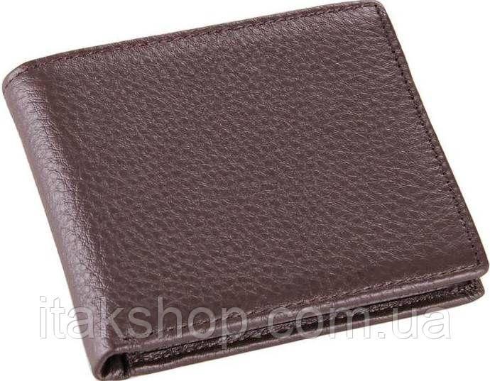 Бумажник мужской Vintage 14515 кожаный Коричневый, Коричневый