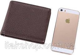 Бумажник мужской Vintage 14515 кожаный Коричневый, Коричневый, фото 2
