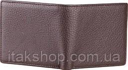 Бумажник мужской Vintage 14515 кожаный Коричневый, Коричневый, фото 3