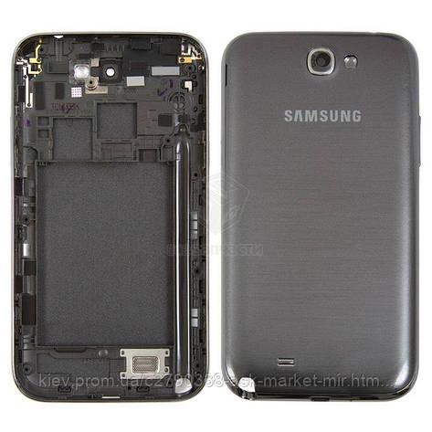 Корпус для Samsung Galaxy Note 2 N7100 Original Grey, фото 2