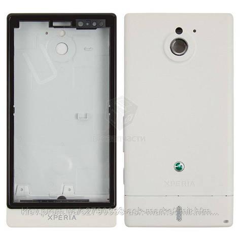Корпус для Sony Xperia Sola MT27i Original White, фото 2
