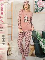 Женская махровая пижамка с тапочками и ночником ) Качество СУПЕР!!