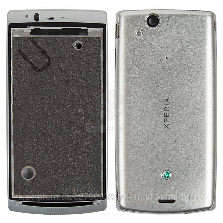Корпус для Sony Ericsson Xperia Arc LT15i, Xperia Arc S LT18i, Xperia Arc X12 Original Silver