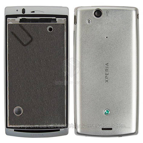 Корпус для Sony Ericsson Xperia Arc LT15i, Xperia Arc S LT18i, Xperia Arc X12 Original Silver, фото 2