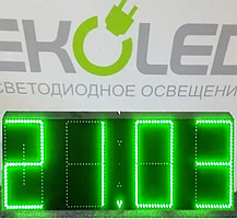 Светодиодные часы (дата, время, температура) 300*900мм зеленая индикация