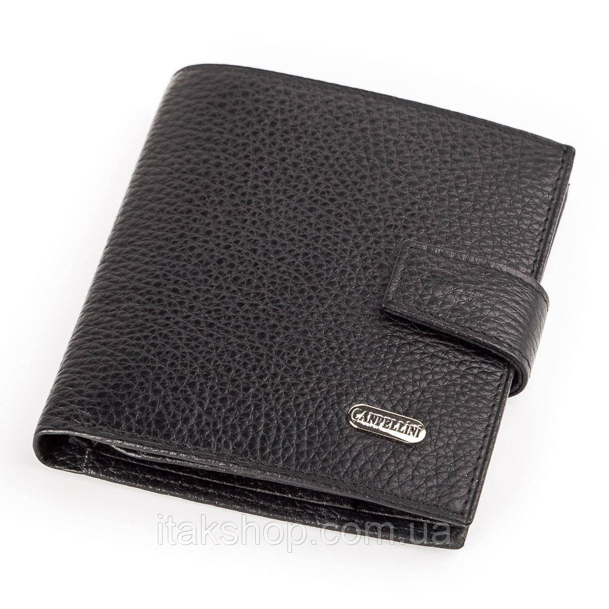 Кожаное портмоне CANPELLINI 17029 Черное, Черный