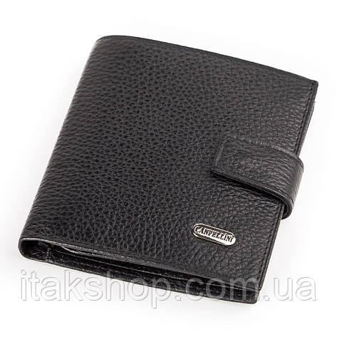 Кожаное портмоне CANPELLINI 17029 Черное, Черный, фото 2