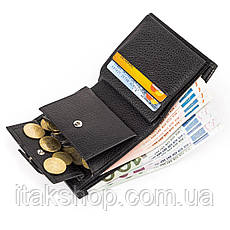 Кожаное портмоне CANPELLINI 17029 Черное, Черный, фото 3