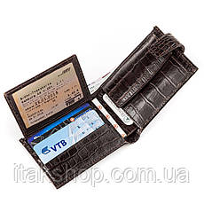 Кожаное портмоне CANPELLINI 17031 Коричневое, Коричневый, фото 2