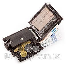 Кожаное портмоне CANPELLINI 17031 Коричневое, Коричневый, фото 3