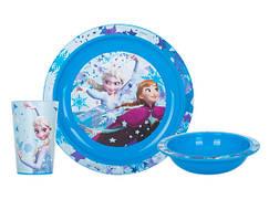 Набір посуду для дітей INVICTUS Disney FROZEN 3 предмети Пластик Блакитний (815782)