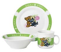 Набір посуду для дітей LIMITED EDITION Bear 3 предмети Фарфор Білий (D1216)